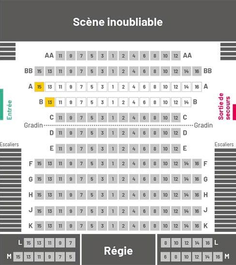 Plan de la salle de spectacles de La Chapelle Québec